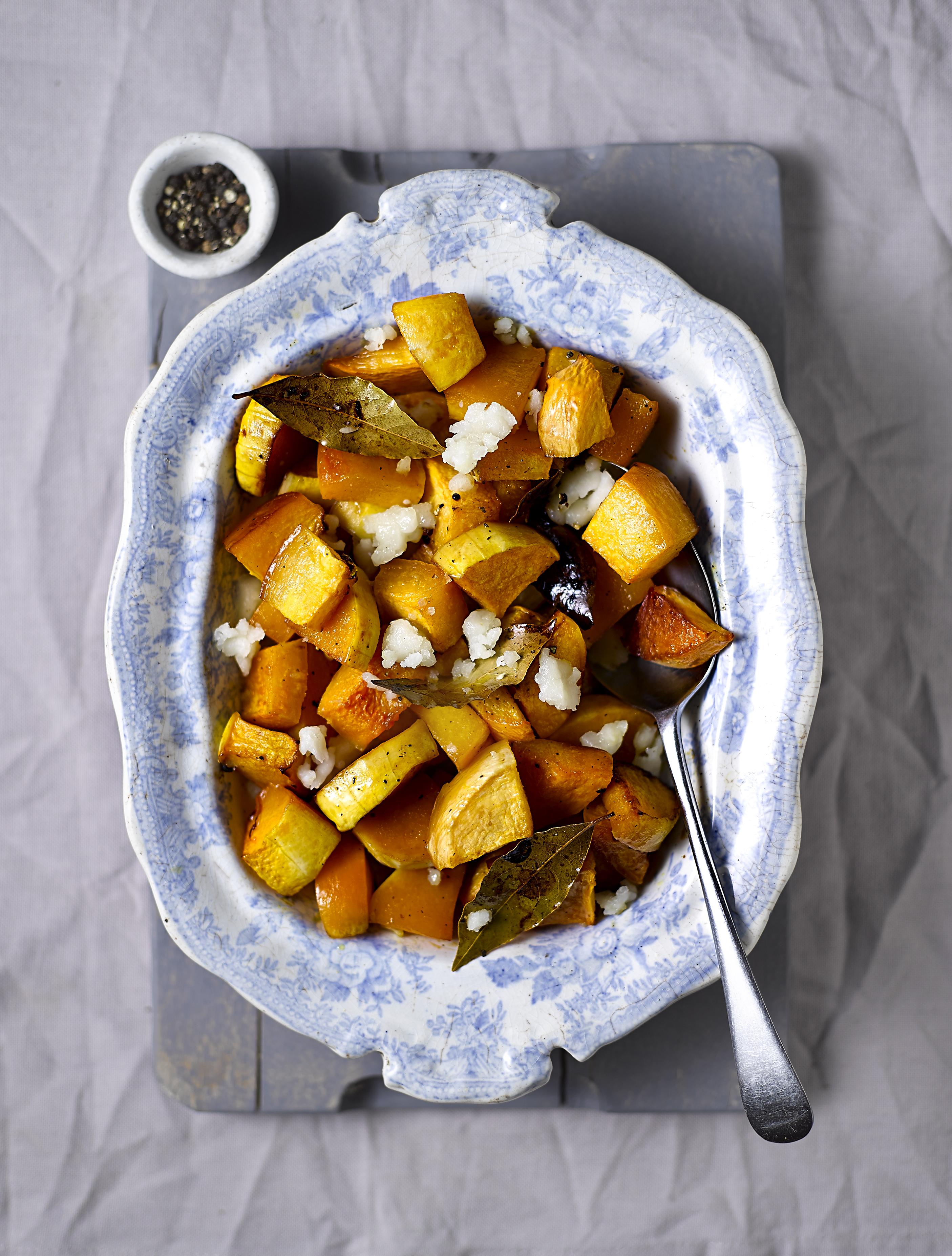 Honey Roast Turnip and Pumpkin